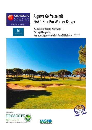 Algarve Golfreise mit PGA 1 Star Pro Werner Berger - Omegareisen ...