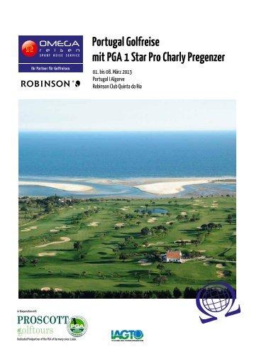 Portugal Golfreise mit PGA 1 Star Pro Charly Pregenzer