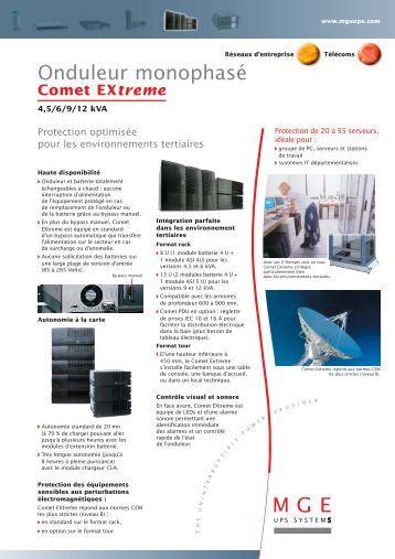 Comet EXtreme - Onduleurs