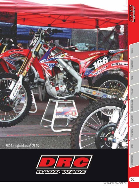 DRC Hard Ware Taillight with Red Lens Honda CRF250X//450X