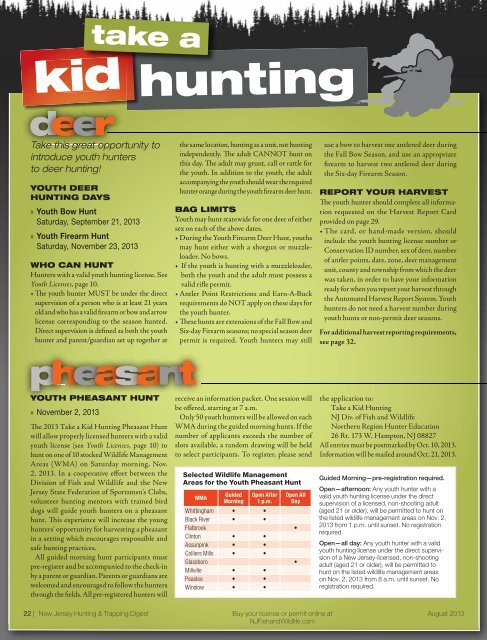 hunting kid - State of New Jersey
