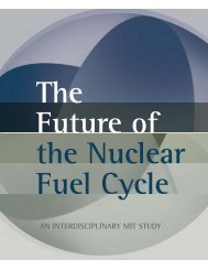 The FuTure oF nuclear Fuel cycle - MIT Energy Initiative