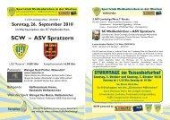 SCW – ASV Spratzern - Sportclub Weißenkirchen in der Wachau