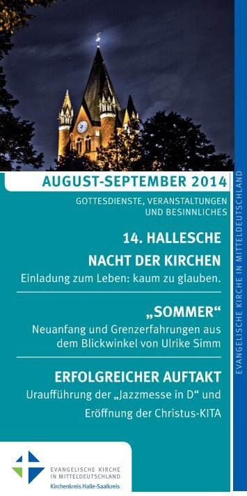 Monatsprogramm des Evangelischen Kirchenkreises Halle-Saalkreis für August & September 2014