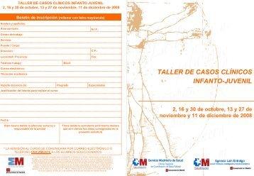 taller de casos clínicos infanto-juvenil - Hospital Gregorio Marañón