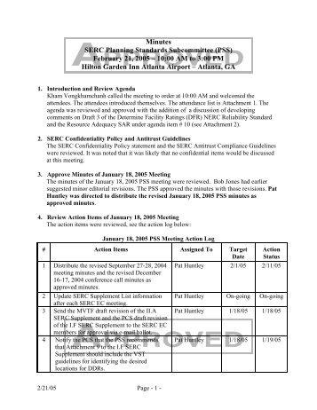 PSS Minutes (2-21-05) Atlanta.pdf - SERC Home Page