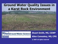 Ground Water Quality Issues in a Karst Rock ... - Ohiowater.org