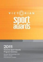 2011 Awards Booklet - VicSport