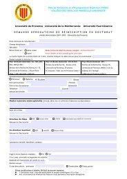 Formulaire de demande de dérogation - Sciences Po Aix