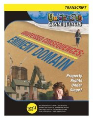 Unintended Consequences: Eminent Domain - Izzit.org