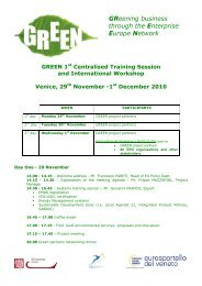 GREEN Training session and workshop agenda.pdf - Green project