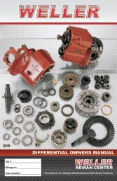 DIFFERENTIAL OWNERS MANUAL - weller truck parts