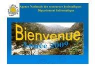 Agence Nationale des ressources hydrauliques Département ... - INBO