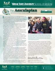 The Aesculapian - Wayne State University School of Medicine