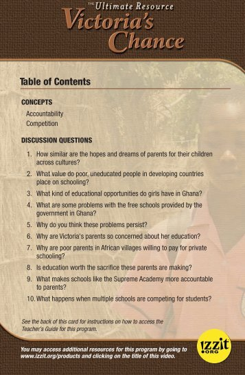 Table of Contents - Izzit.org