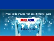 Proposal to provide Risk based internal audit Riskpro, India