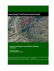 Royal Rouge Trail Erosion Control Project - Toronto and Region ...