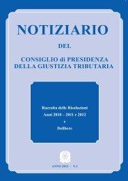 Notiziario n.1 - Consiglio di Presidenza della Giustizia Tributaria