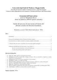 Analisi del processo di innovazione all'interno del ... - Fabioruini.eu