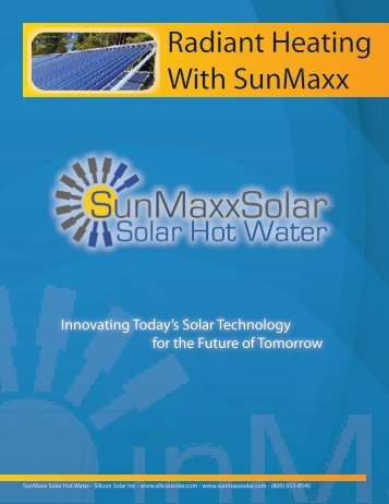 Radiant Heating With SunMaxx - SunMaxx Solar