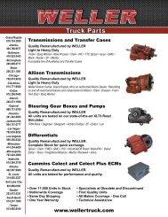 weller truck parts