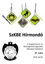 2010.április - Szegedi Karszt- és Barlangkutató Egyesület