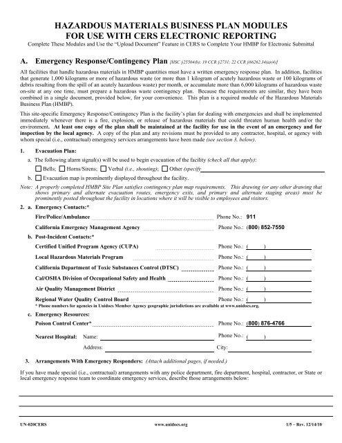 hazardous material business plan hmbp reporting requirements