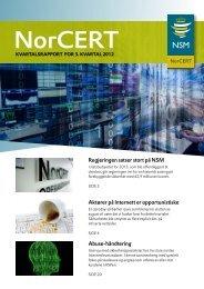 Kvartalsrapport for 3. Kvartal 2012 - NSM