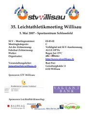 35. Leichtathletikmeeting Willisau - LAR Tägerwilen