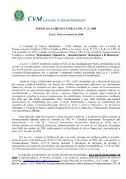 Edital de Audiência Pública SNC nº 11/2008 - CVM