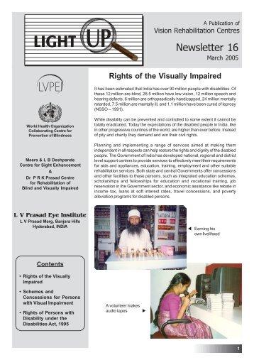 Newsletter 16 - Patient Care Services - LV Prasad Eye Institute