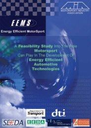 Energy Efficient Motor Sport - Motorsport Industry Association