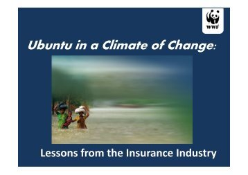Ubuntu in a Climate of Change: Lessons from the Insurance Industry