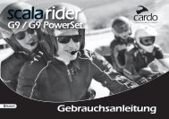 scala rider G9 / G9 PowerSet® User Guide DE - Cardo Systems, Inc