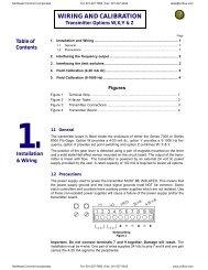 Transmitter Wiring and Calibration Instructions - Temp-Press Inc