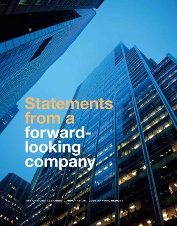 OCC 2010 Annual Report - The Options Clearing Corporation