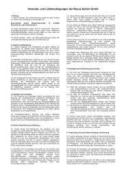Verkaufs- und Lieferbedingungen der Reuss-Seifert GmbH