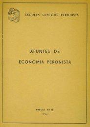 (PDF) Escuela Superior Peronista - Apuntes de Economía Peronista