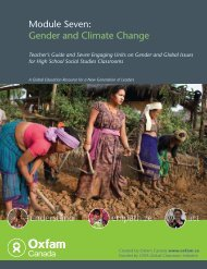 Module Seven: Gender and Climate Change - Oxfam Canada