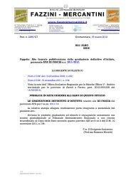 Atto formale di pubblicazione - IIS Fazzini-Mercantini