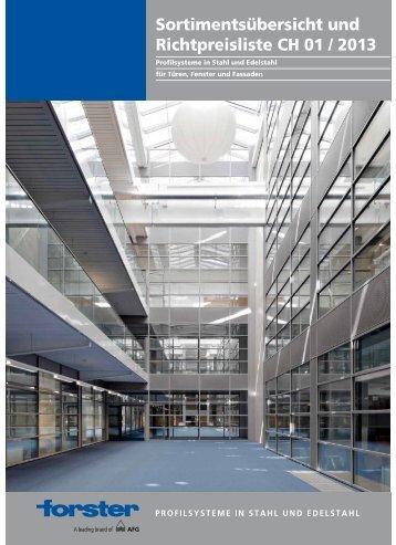 Preisliste Forster 01.2013 - Stahltechnik