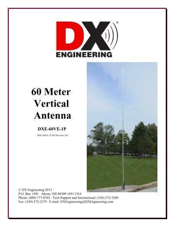 60 Meter Vertical Antenna DXE-60VE-1P - DX Engineering