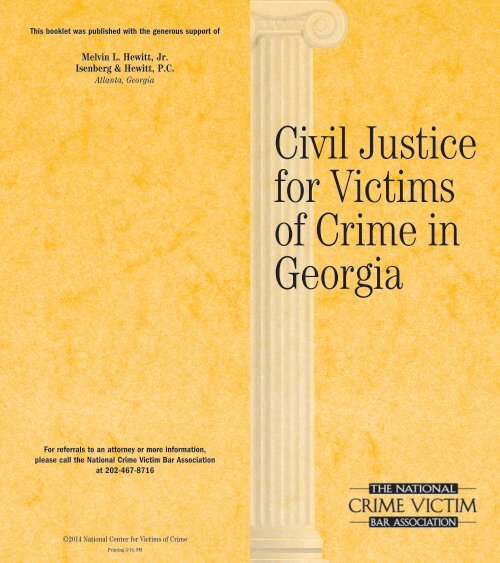 civil justice for victims of crime civil justice for victims of
