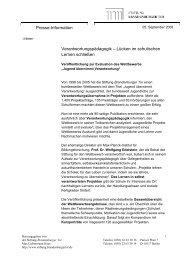 Lücken im schulischen Lernen schließen - Stiftung Brandenburger Tor