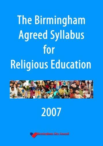 Birmingham Agreed Syllabus for Religious Education 2007