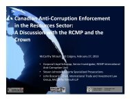 Canadian Anti-Corruption Enforcement in the ... - McCarthy Tétrault