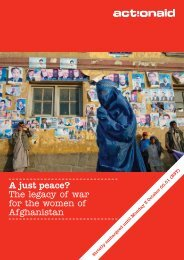 A just peace? The legacy of war for the women of ... - ActionAid