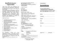 Den Flyer zu diesem Ausbildungskurs ist hier zum Download ...