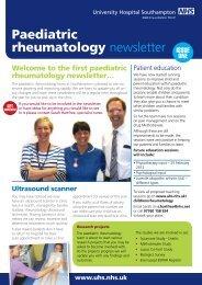 Paediatric rheumatology newsletter issue 1