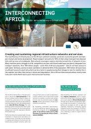Interconnecting Africa – leaflet - Africa-EU Partnership